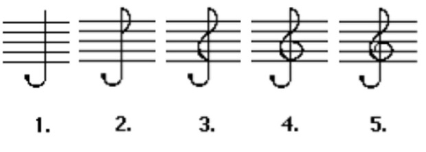 treble clef instructions