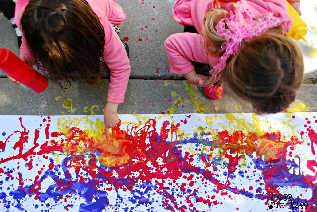 kid artists messy