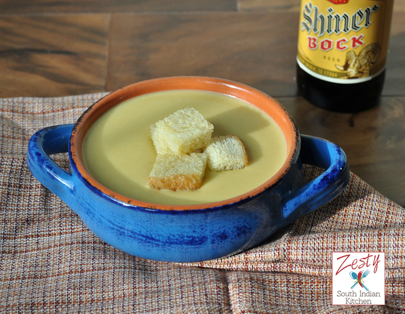 shiner bock and soup