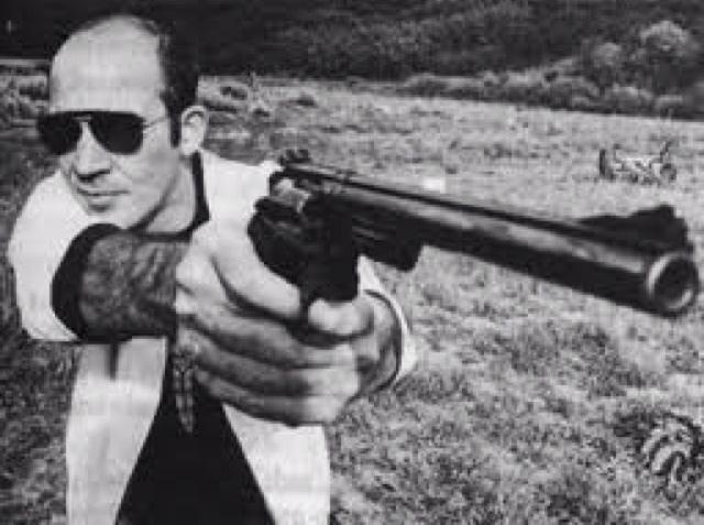 hunter s thompson with gun